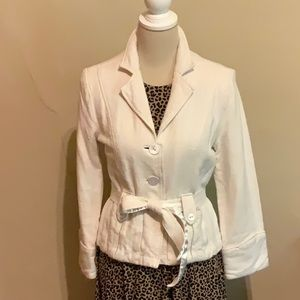 LA REDOUTE French Fitted Linen Jacket Size 10